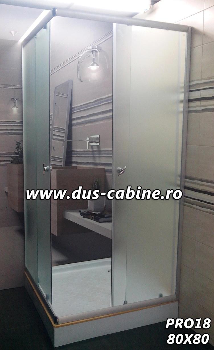 Cabina dus patrata Cluj 80x80