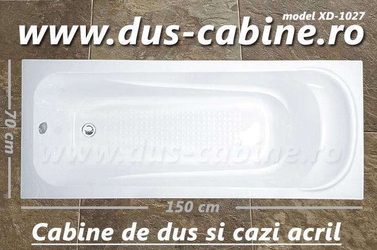 Cada de baie acril 150 x 70 x 40 - XD-1027