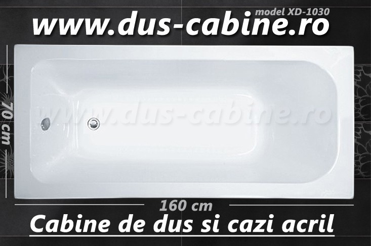 Cazi baie preturi acril 160 cm x 70 cm x 40 cm - XD-1030